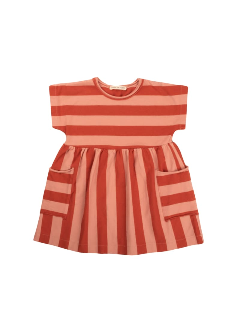 Buy Babe & Tess Pink / Red Striped Dress online, shop Babe & Tess with free shipping