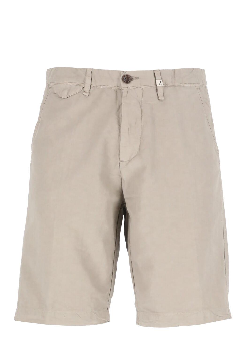 Cotton And Linen Blend Bermuda Short