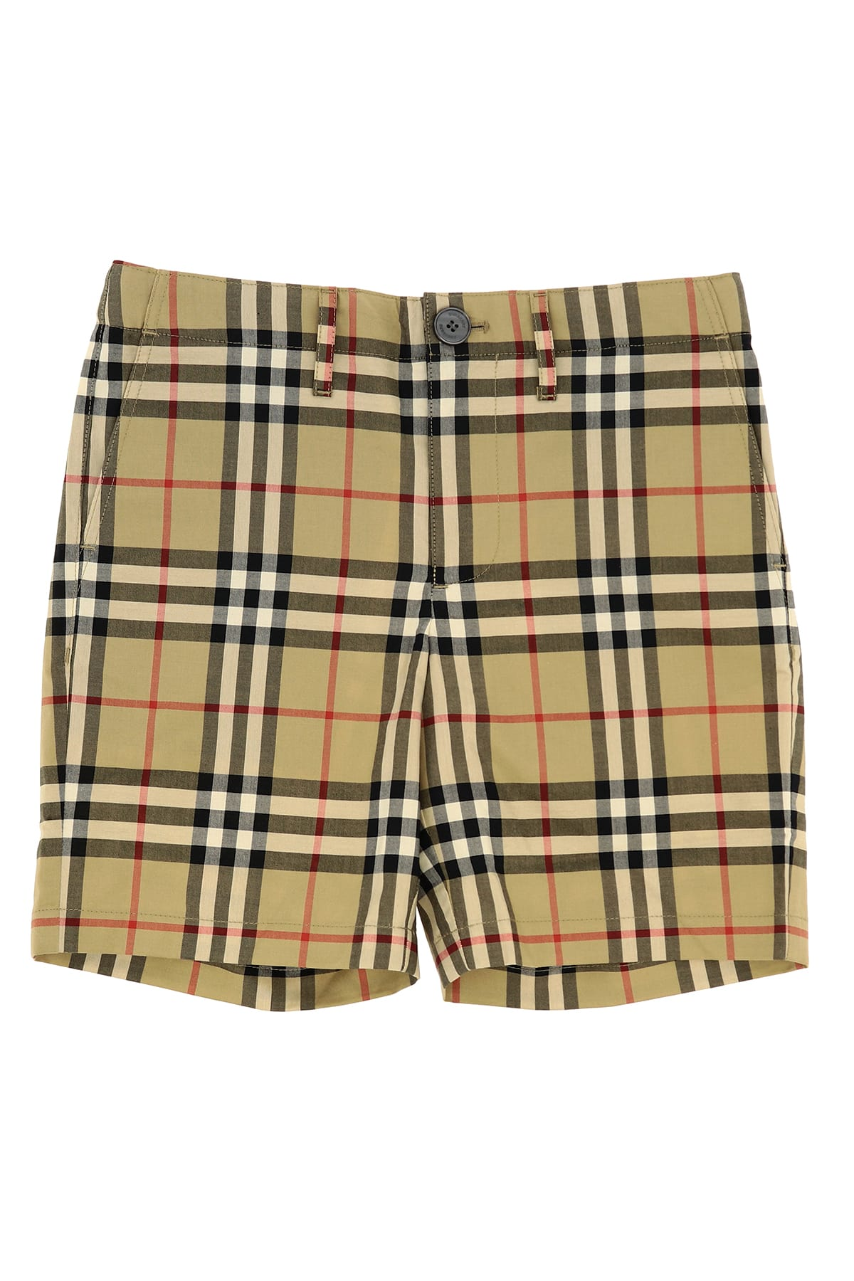 Burberry Kids' Shorts With Vintage Check Pattern In Archive Beige