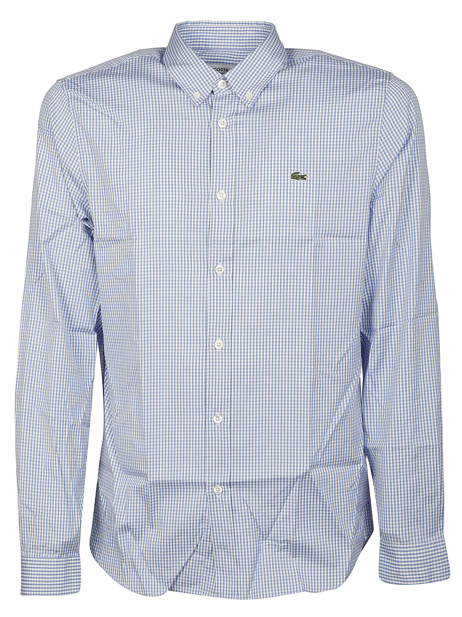 Lacoste Cottons CHECKED LOGO SHIRT
