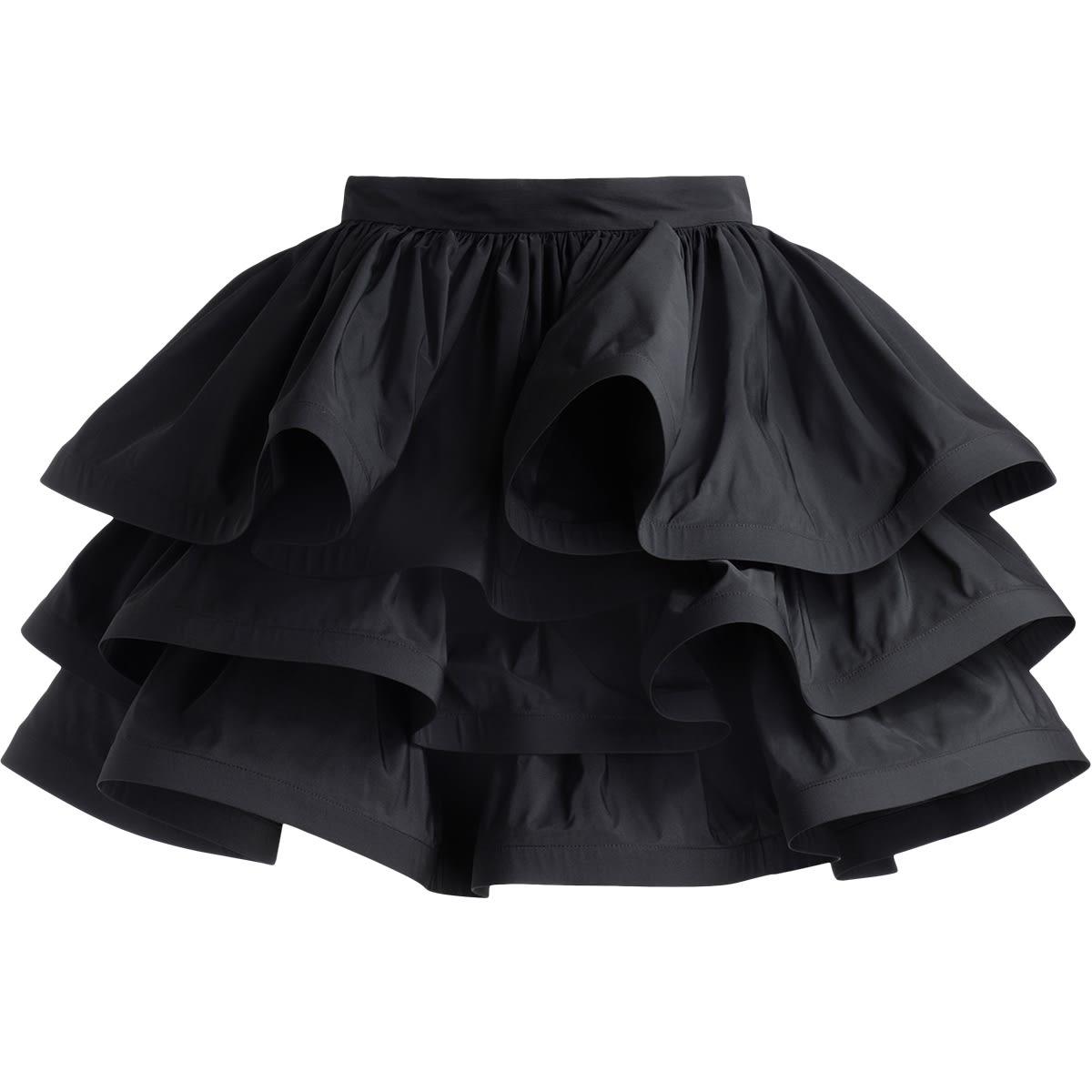 Skirt Elisabetta Franchi Black With Maxi Flounces
