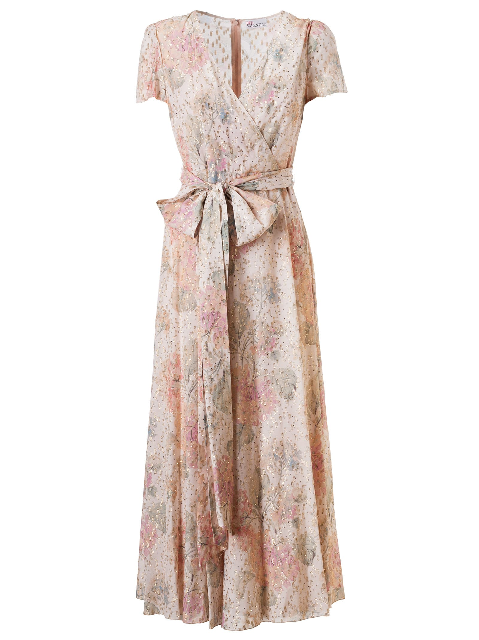 Buy RED Valentino Belted Floral Print Maxi Dress online, shop RED Valentino with free shipping
