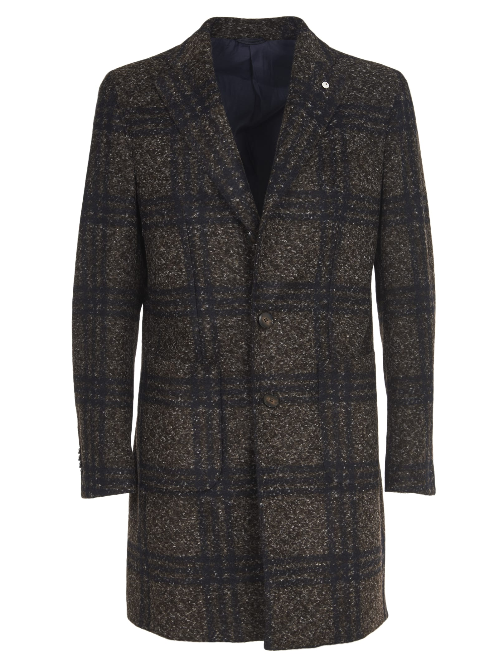 1911 Checked Blue And Brown Coat