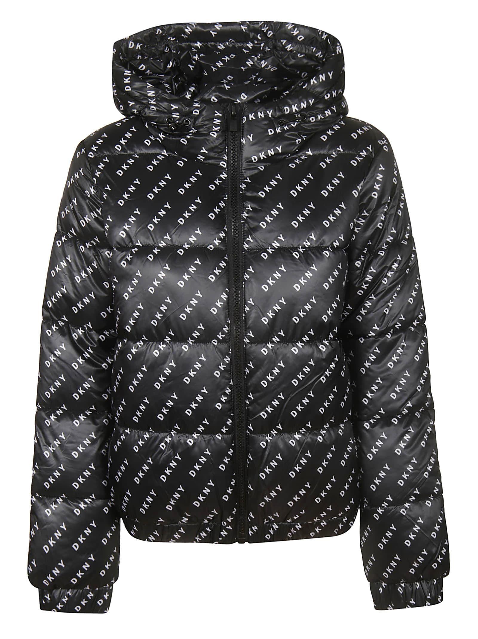 DKNY All Over Print Padded Jacket