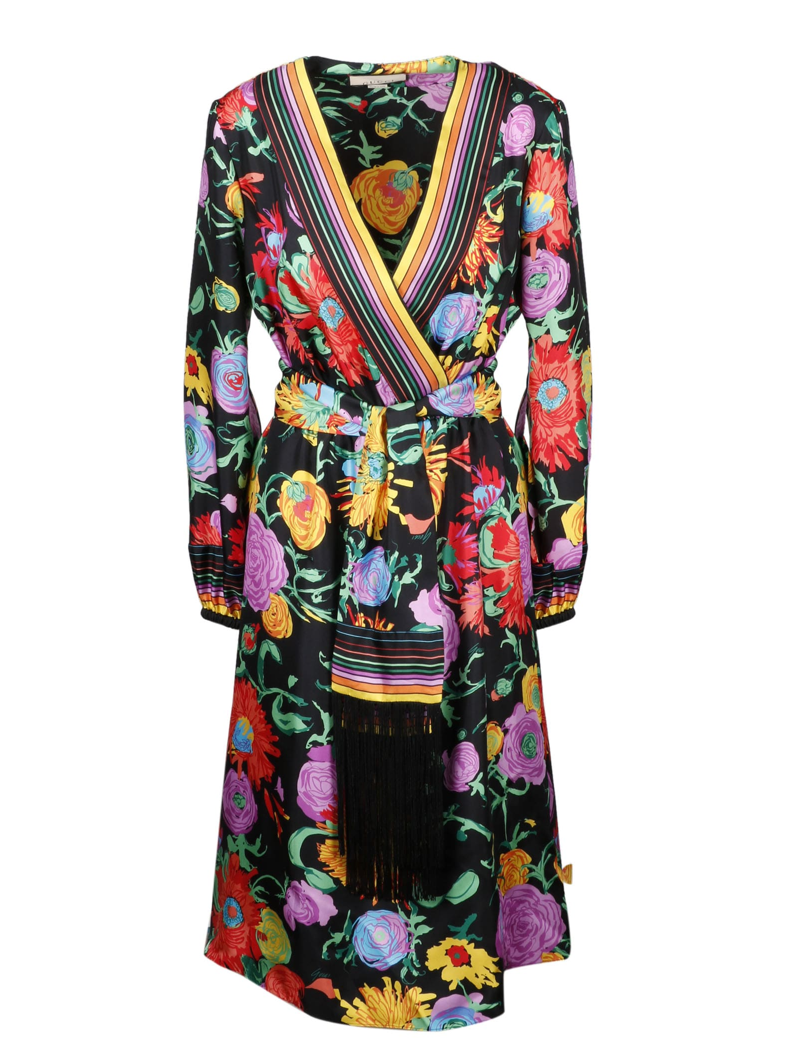 Buy Gucci Floral Dress online, shop Gucci with free shipping