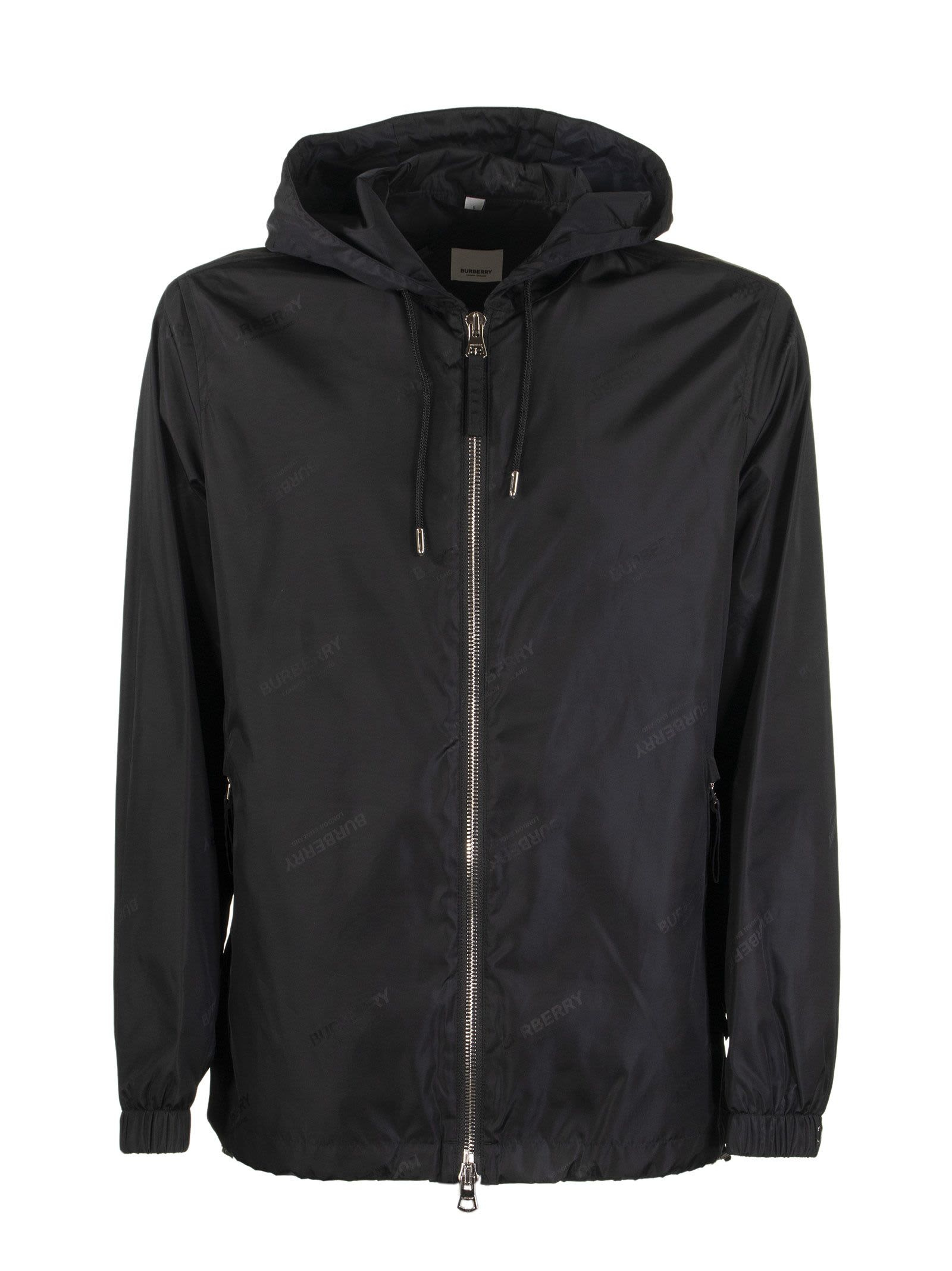 Logo Jacquard Econyl Hooded Jacket Stretton Black