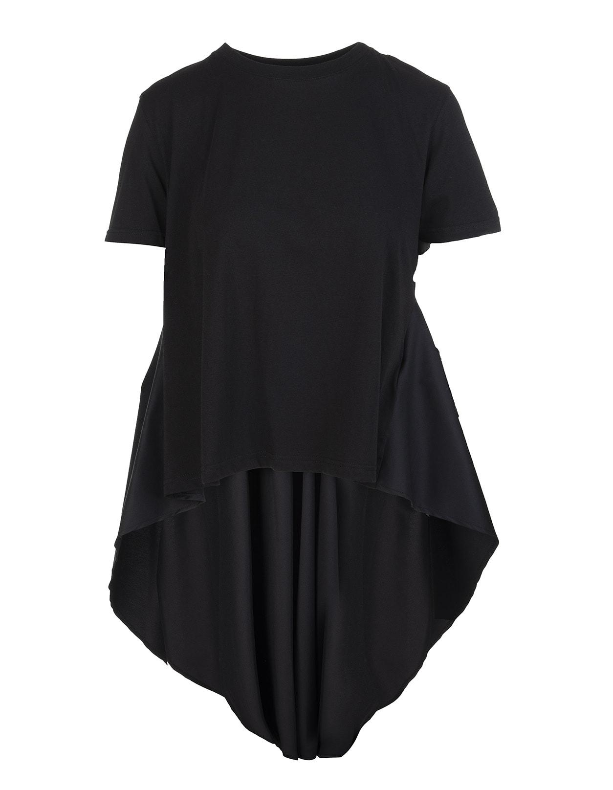 Red Valentino T-shirts BLACK THE BLACK TAG WOMAN T-SHIRT