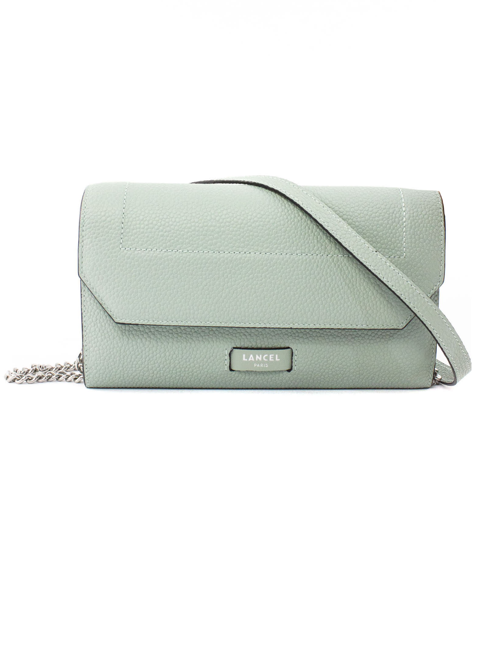 Green Leather Chain Wallet