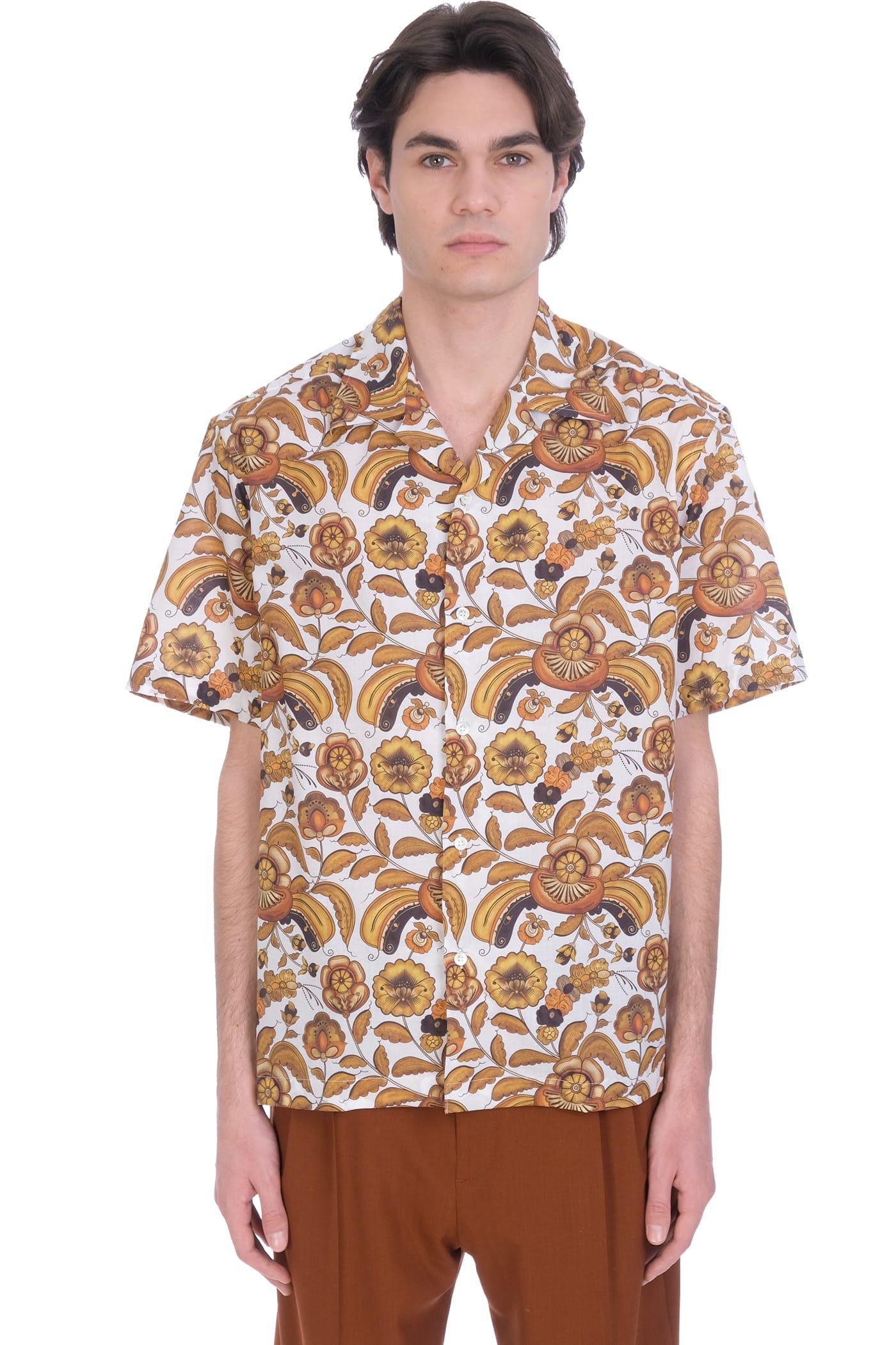Shirt In Beige Cotton