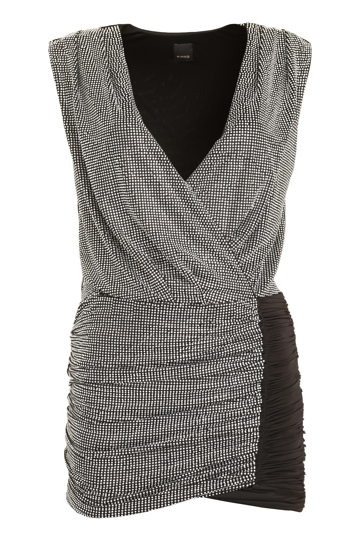 Buy Pinko Gastone Rhinestone Mini Dress online, shop Pinko with free shipping