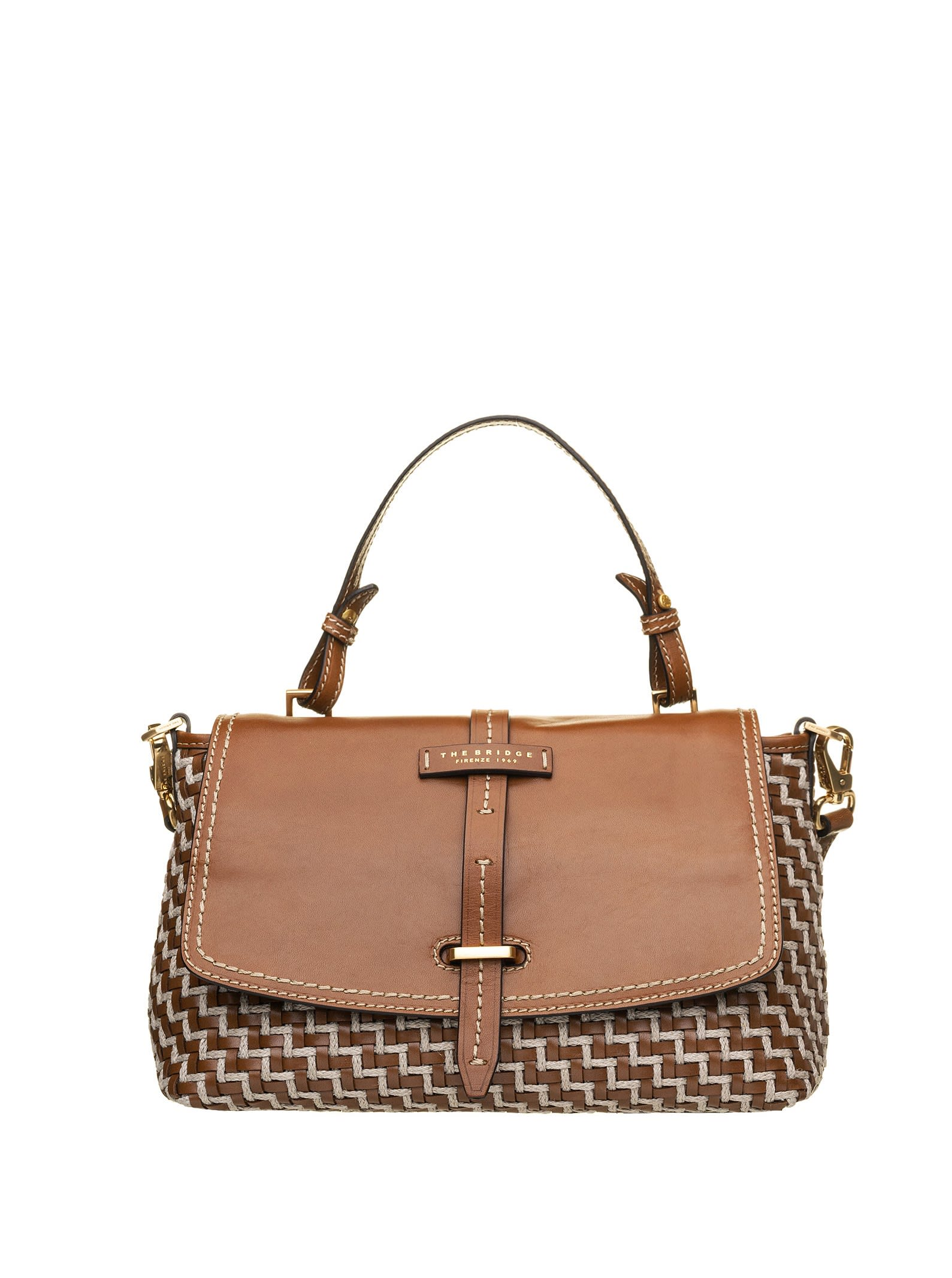 The Bridge The Bridge Satchel Woven Leather Bag