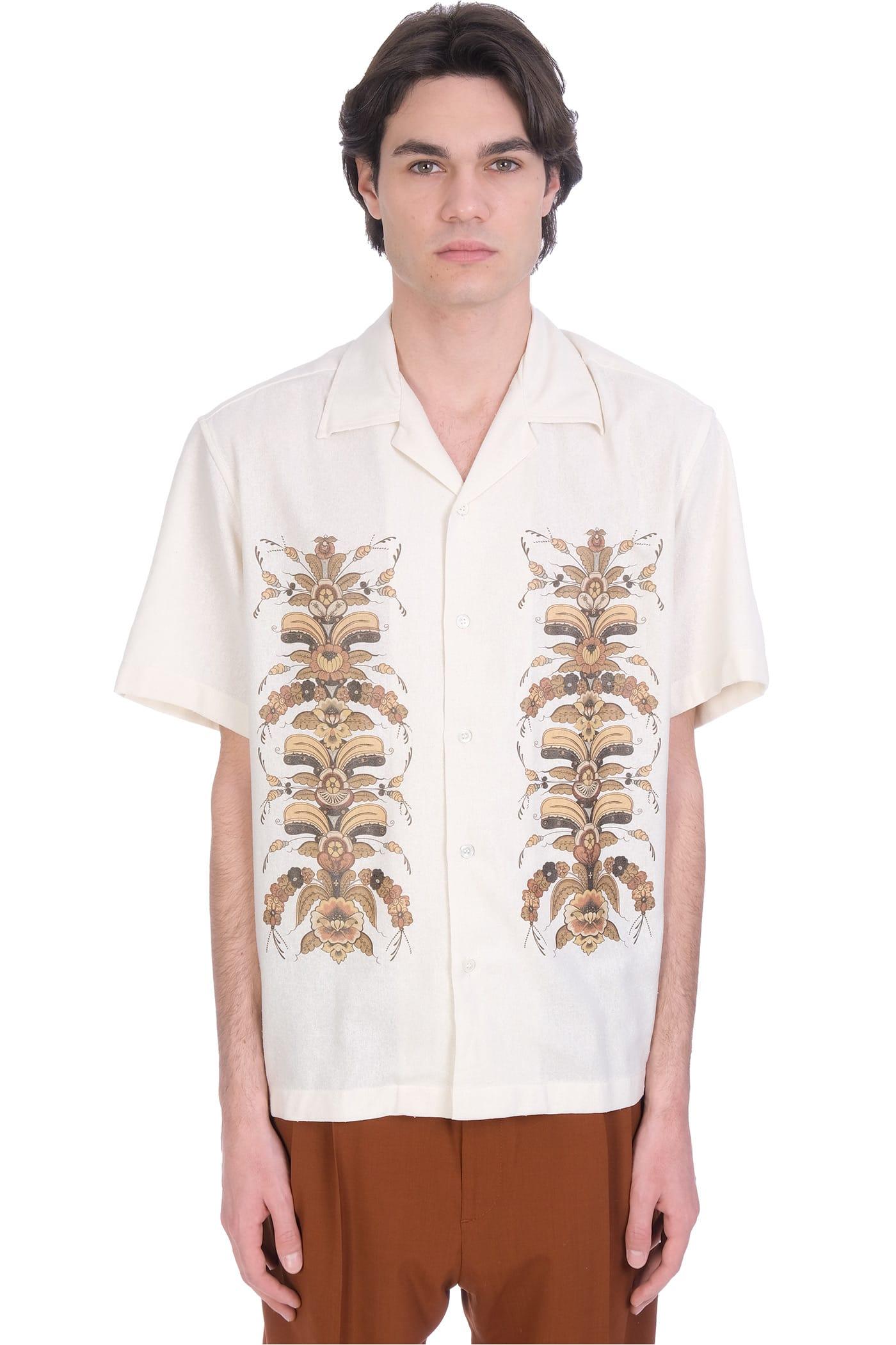 Shirt In Beige Silk