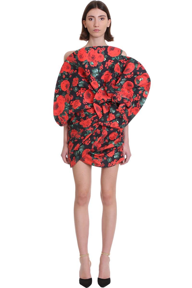 Buy Magda Butrym Belgrade Dress In Red Silk online, shop Magda Butrym with free shipping