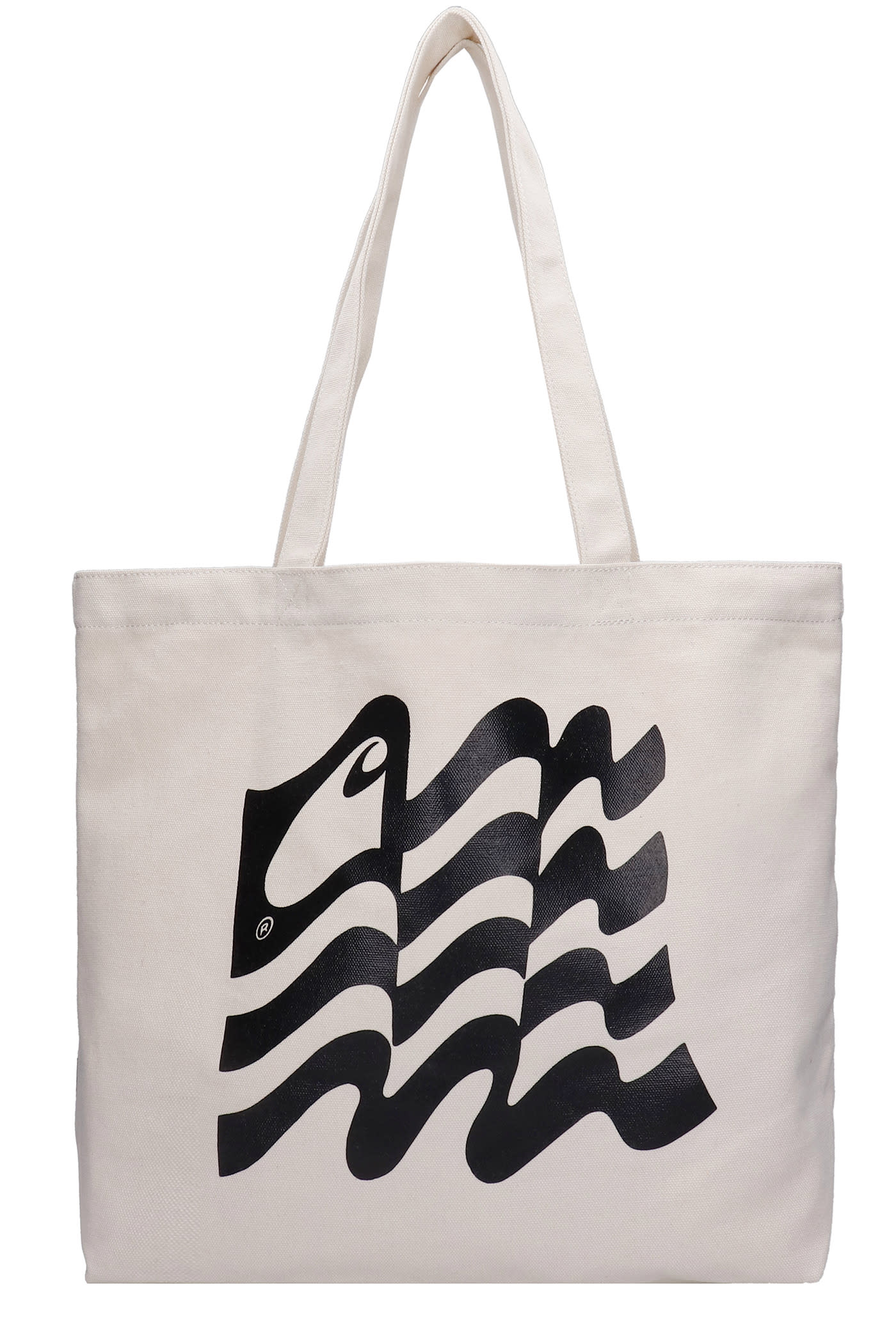 Tote In Beige Canvas