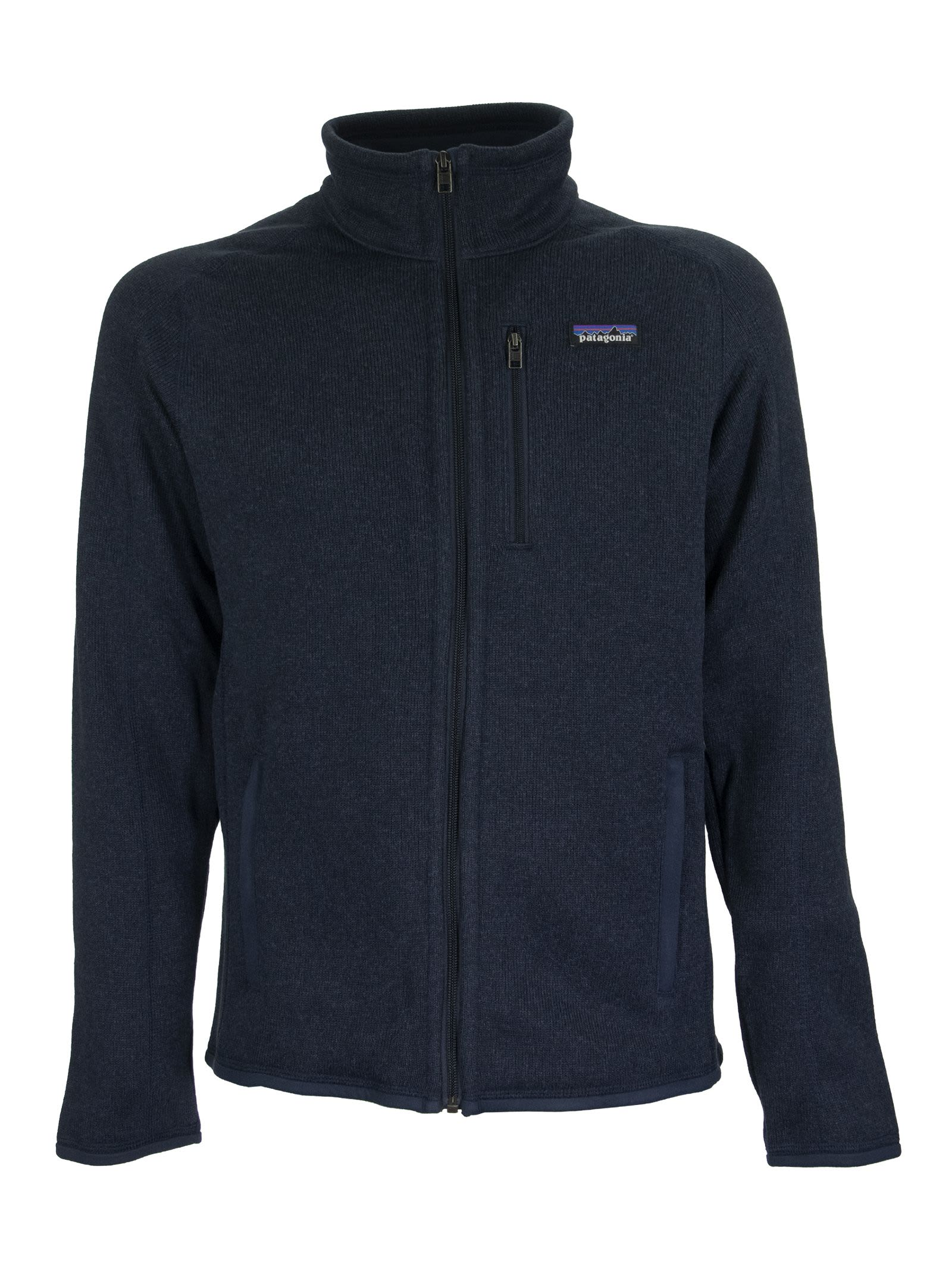 A warm, low-bulk full-zip jacket made with soft, sweater-knit recycled polyester fleece. Fair Trade Certified sewn. Made of 100% recycled polyester fleece with a sweater-knit face, fleece interior and heathered yarns; dyed with a low-impact process that significantly reduces the use of dyestuffs, energy and water compared to conventional dyeing methods. The Full-zip design features a zip-through stand-up collar for warmth and soft comfort on your neck. Raglan sleeves for mobility and pack-wearin