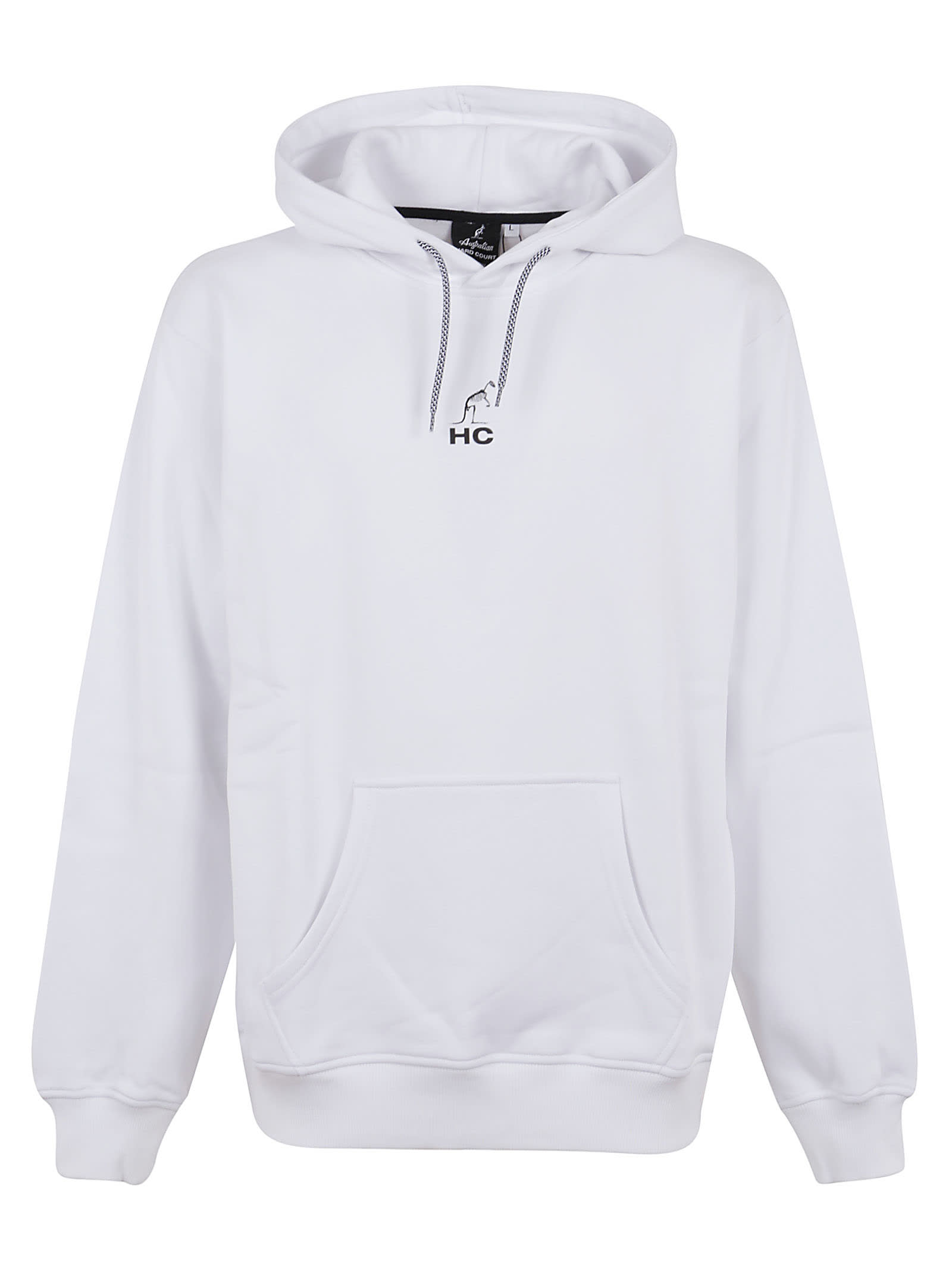 Hooded Sweatshirt With Skull Print In Front