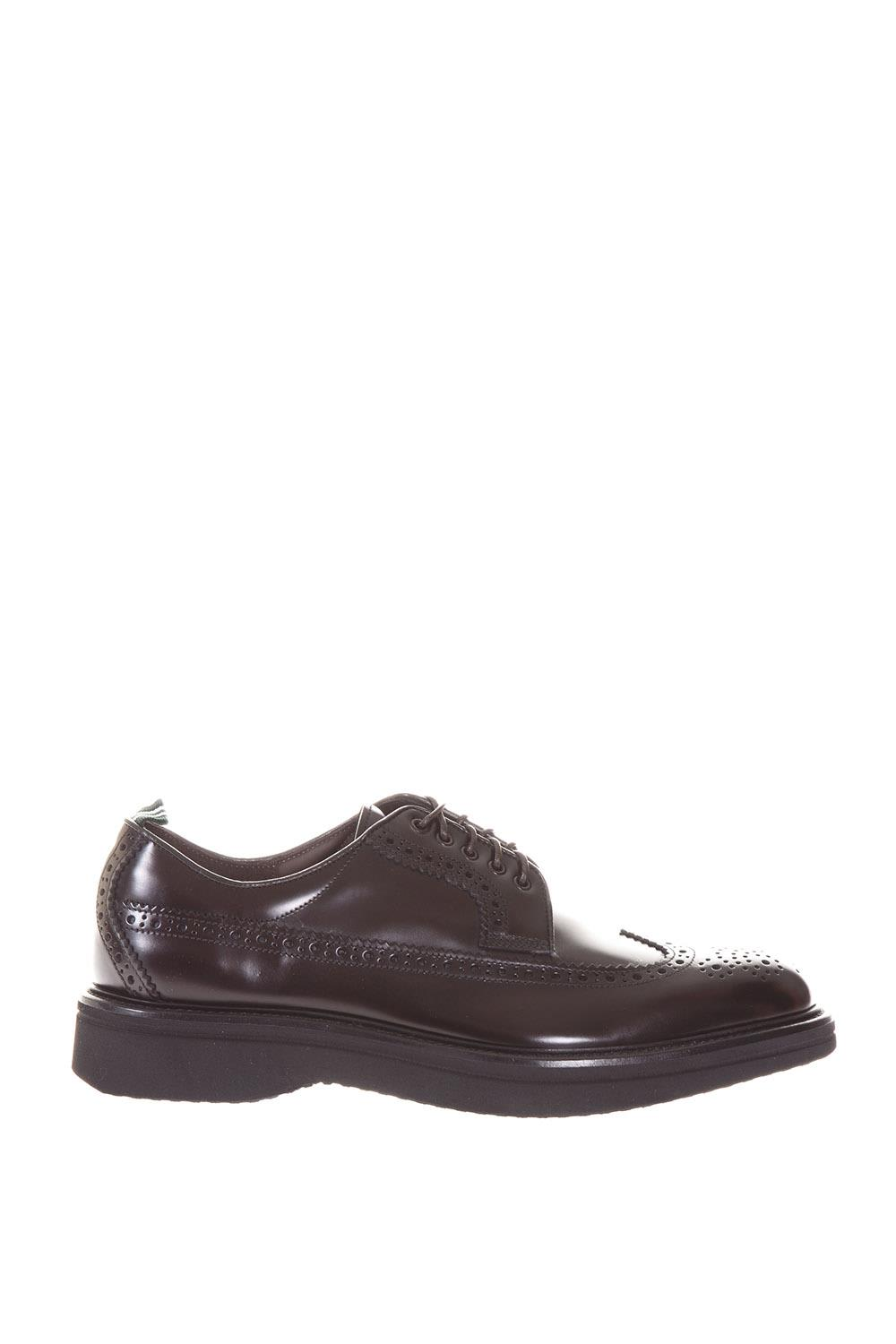 Brogue Polished Leather Derby Shoes