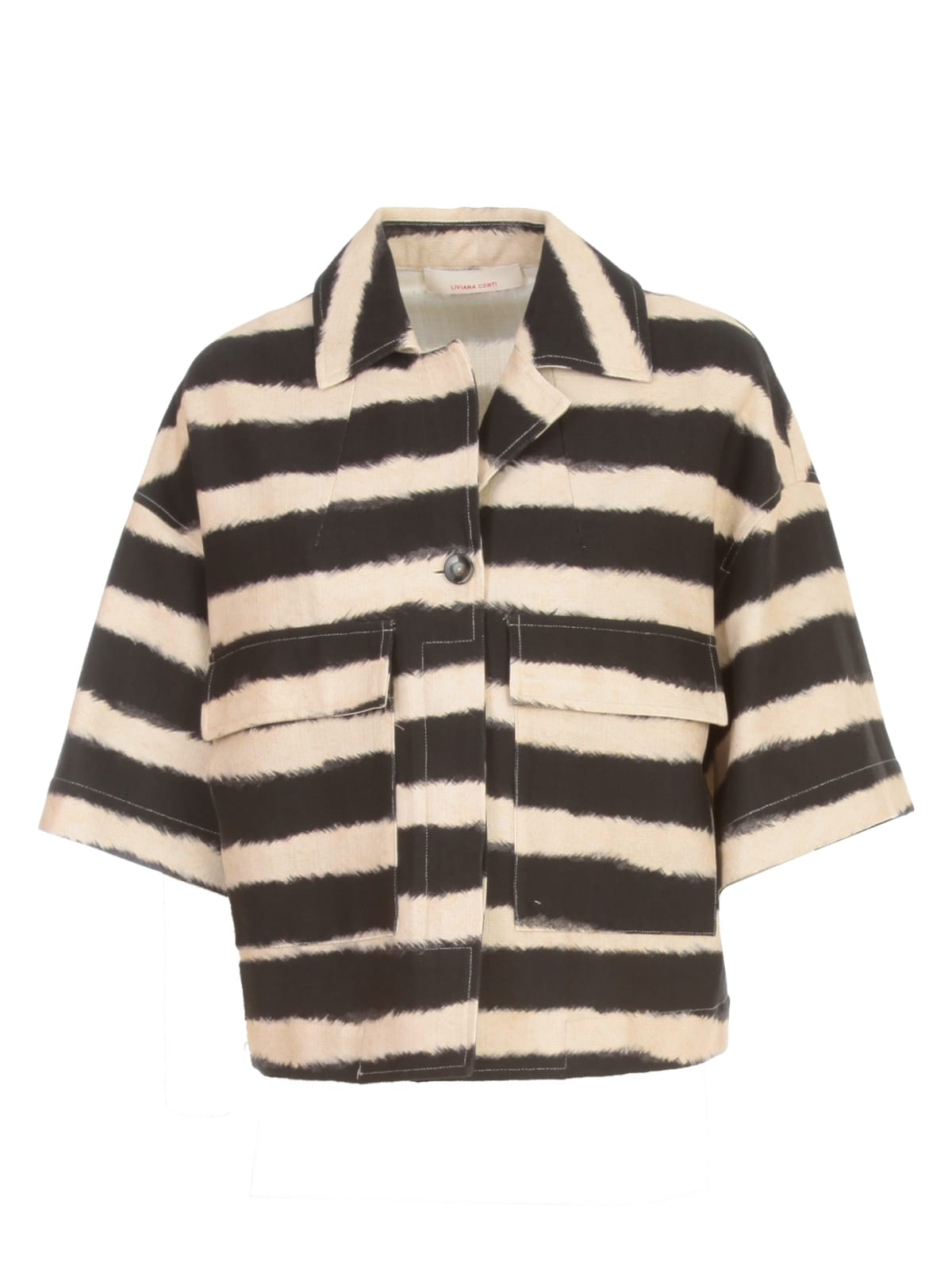 Liviana Conti Striped Printed Jacket