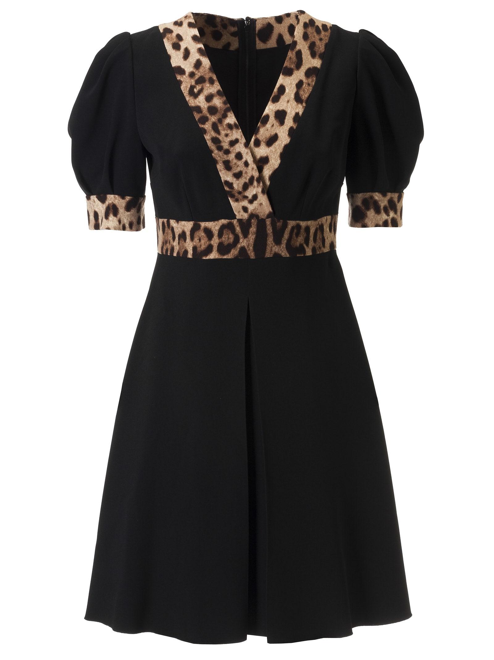 Dolce & Gabbana Leopard Detail Dress