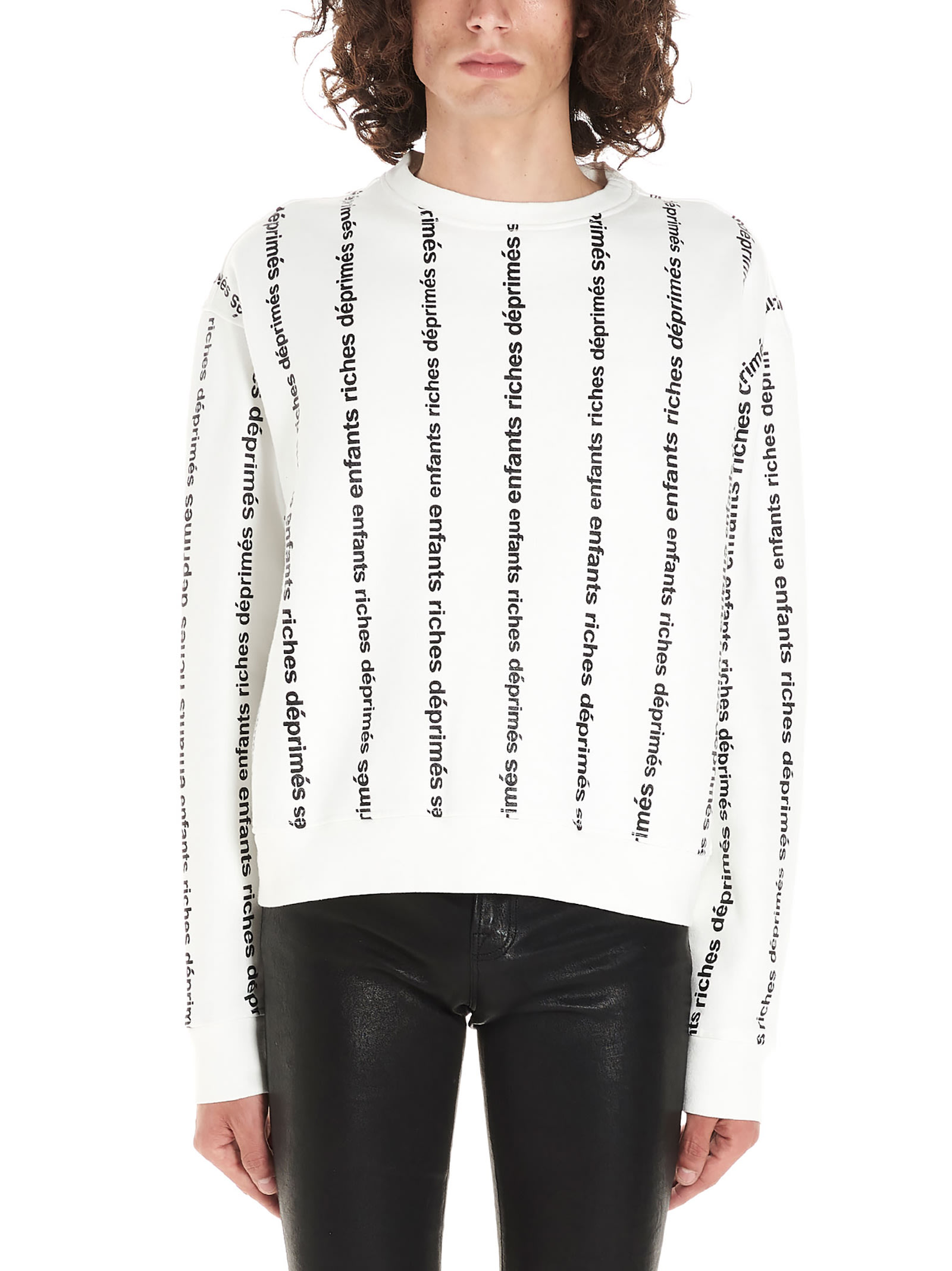Enfants Riches Deprimes logo Stripe Sweatshirt