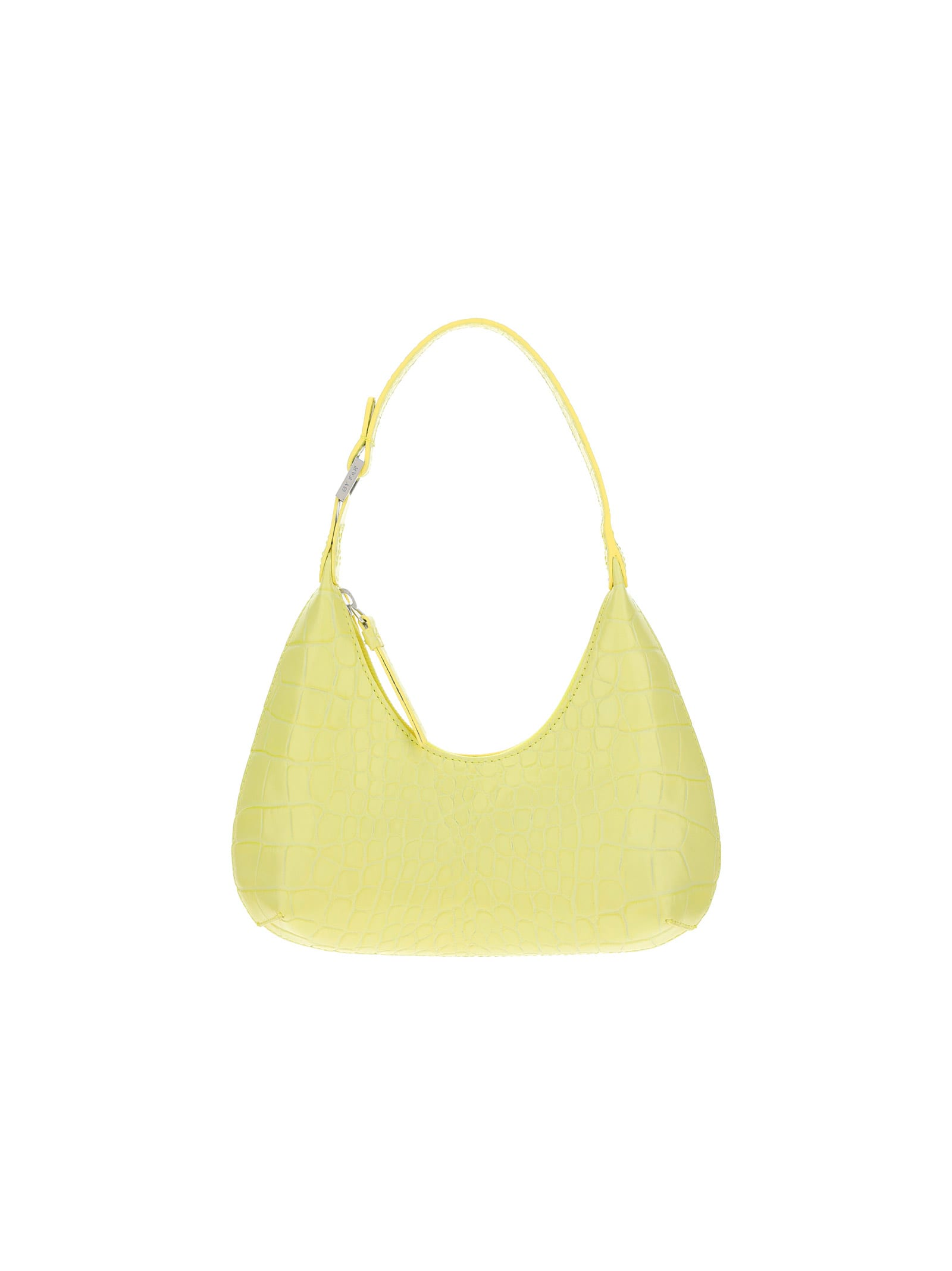 By Far Women's 21crbascusdsmacus Yellow Other Materials Shoulder Bag In Custard