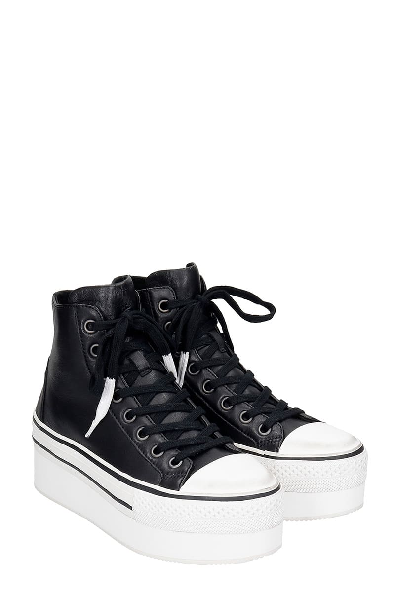 High Quality Ash Jessbis01 Sneakers In Black Leather - Great Deals
