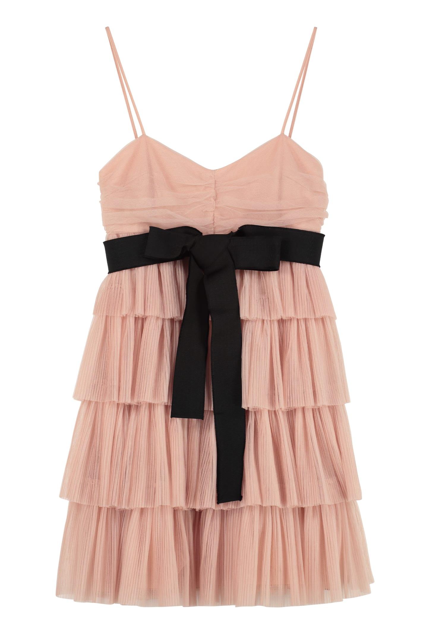 RED Valentino Ruffled Tulle Mini Dress
