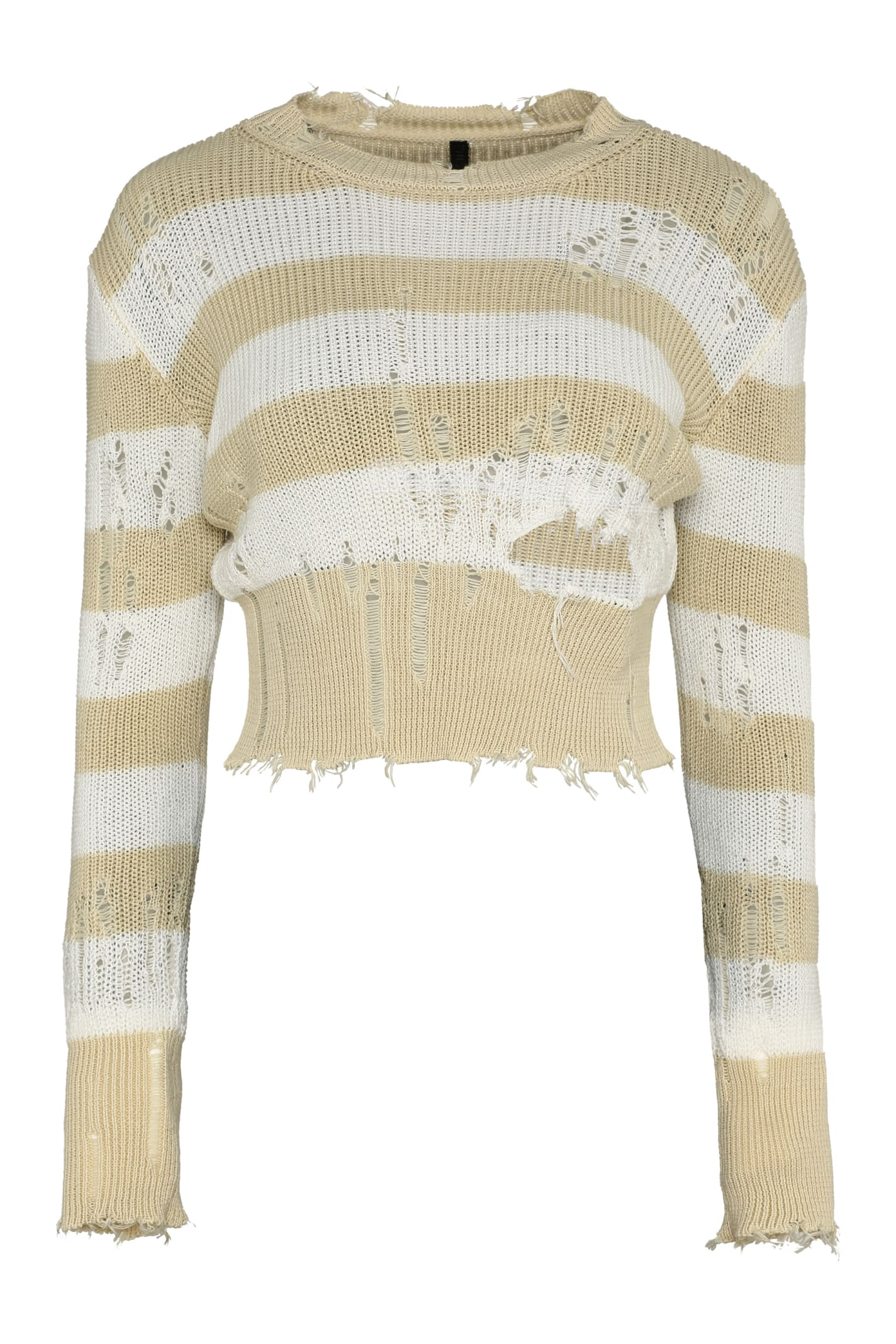 Striped Distressed Sweater