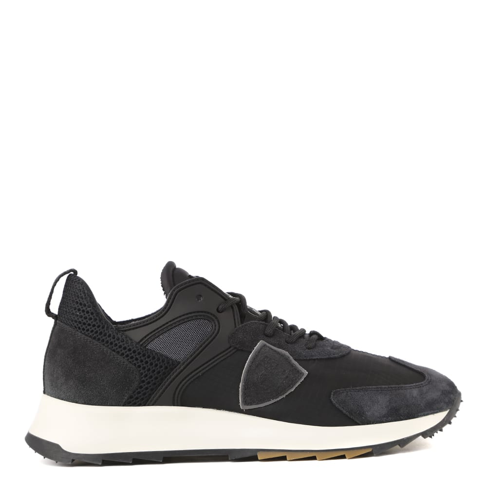 Philippe Model Black Nylon And Suede Sneaker