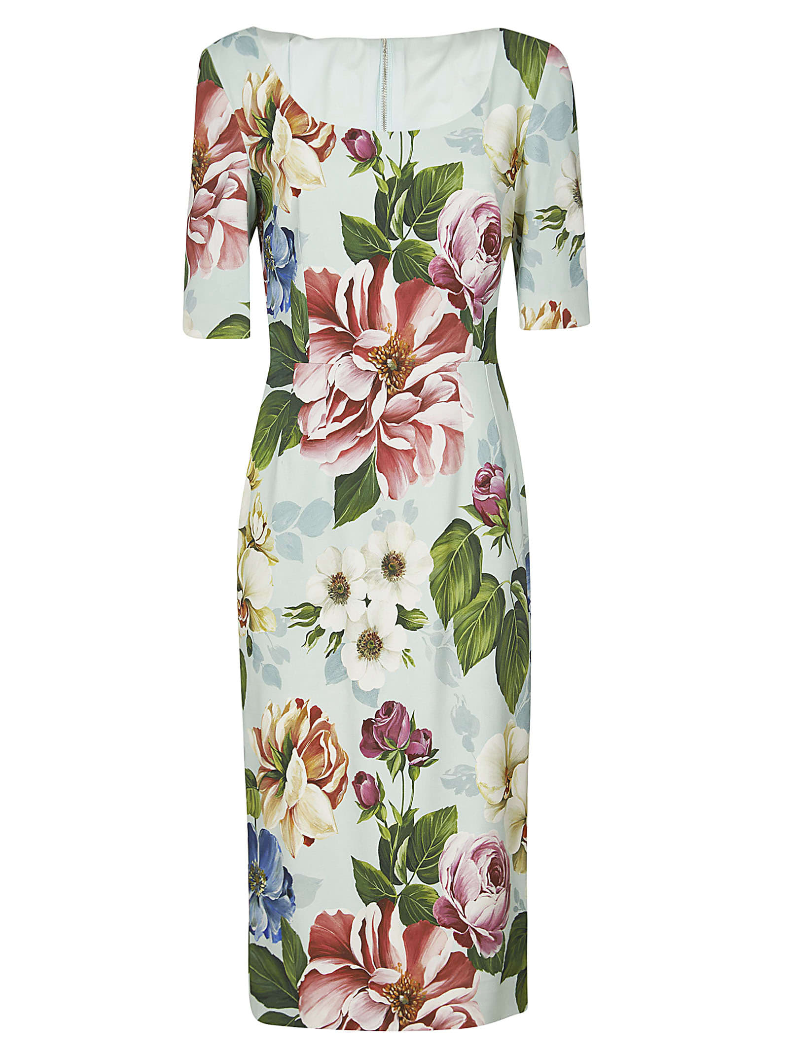 Buy Dolce & Gabbana Floral Printed Dress online, shop Dolce & Gabbana with free shipping