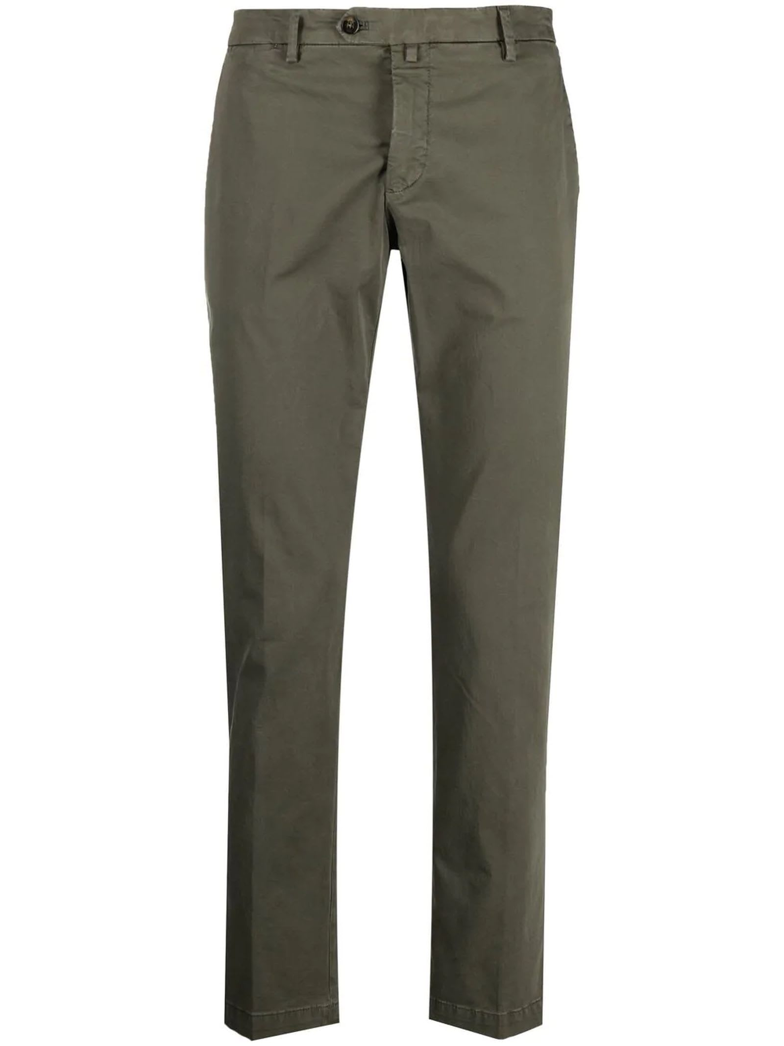 1949 Green Cotton Chino Trousers