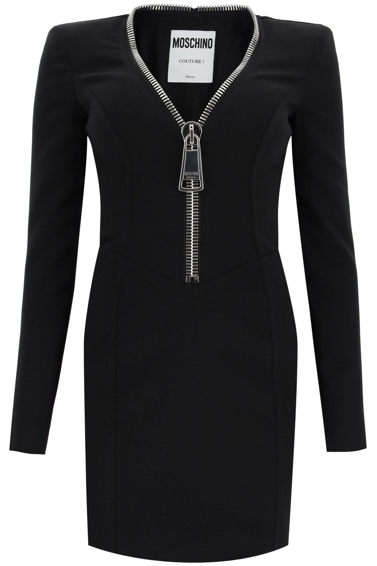 Moschino Mini Dress With Macro Zip