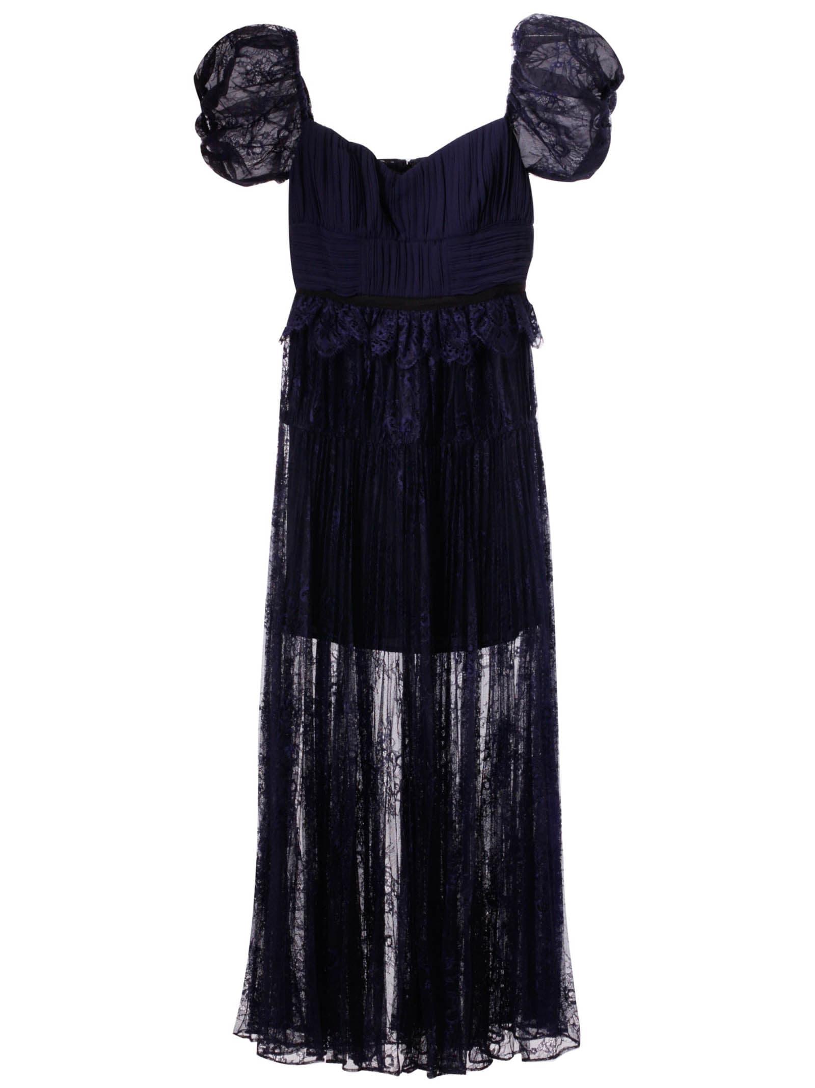 self-portrait Floral Scallop Dress