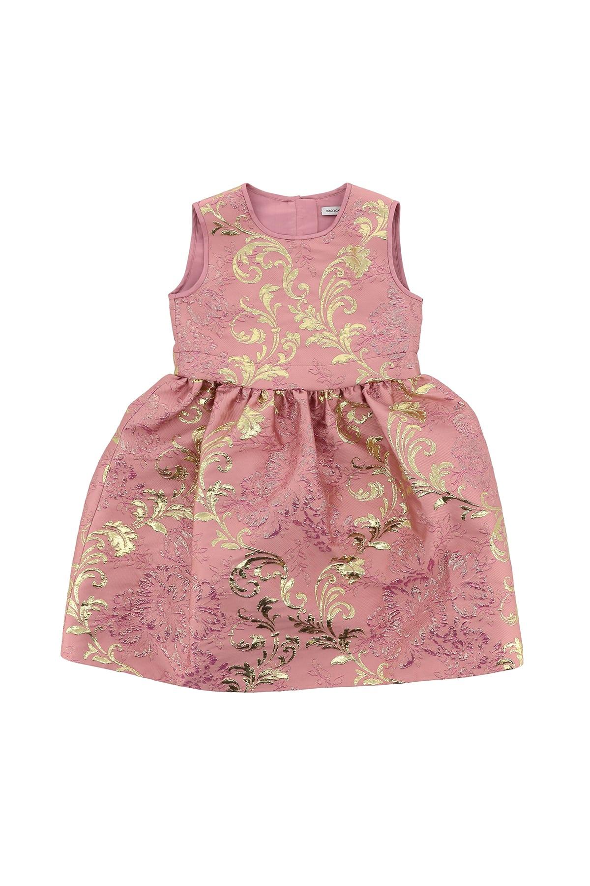 Buy Dolce & Gabbana Floral Jacquard Midi Dress online, shop Dolce & Gabbana with free shipping