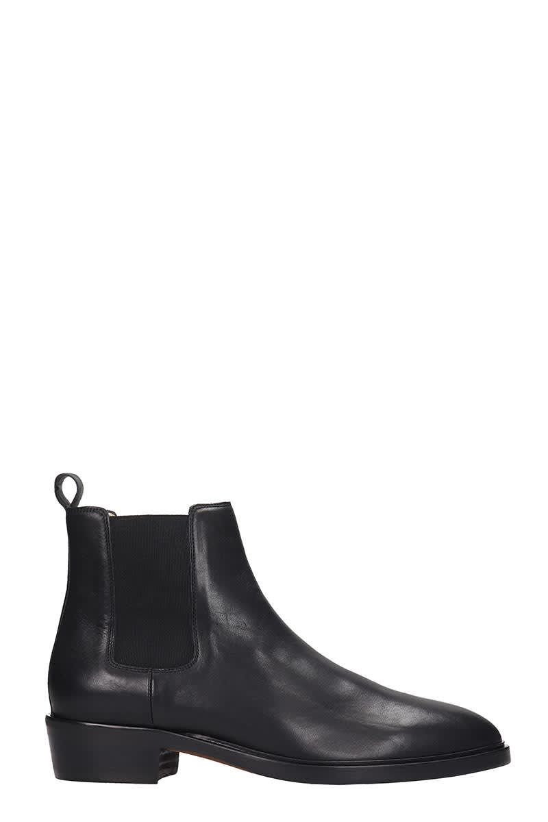 Royal Republiq Hunter Chelsea High Heels Ankle Boots In Black Leather