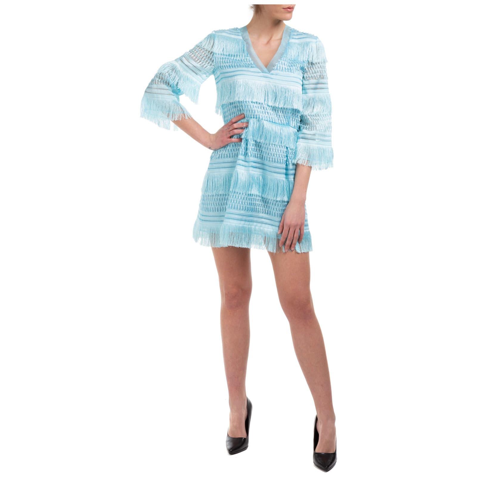 Buy Alberta Ferretti Double Question Mark Mini Dress online, shop Alberta Ferretti with free shipping