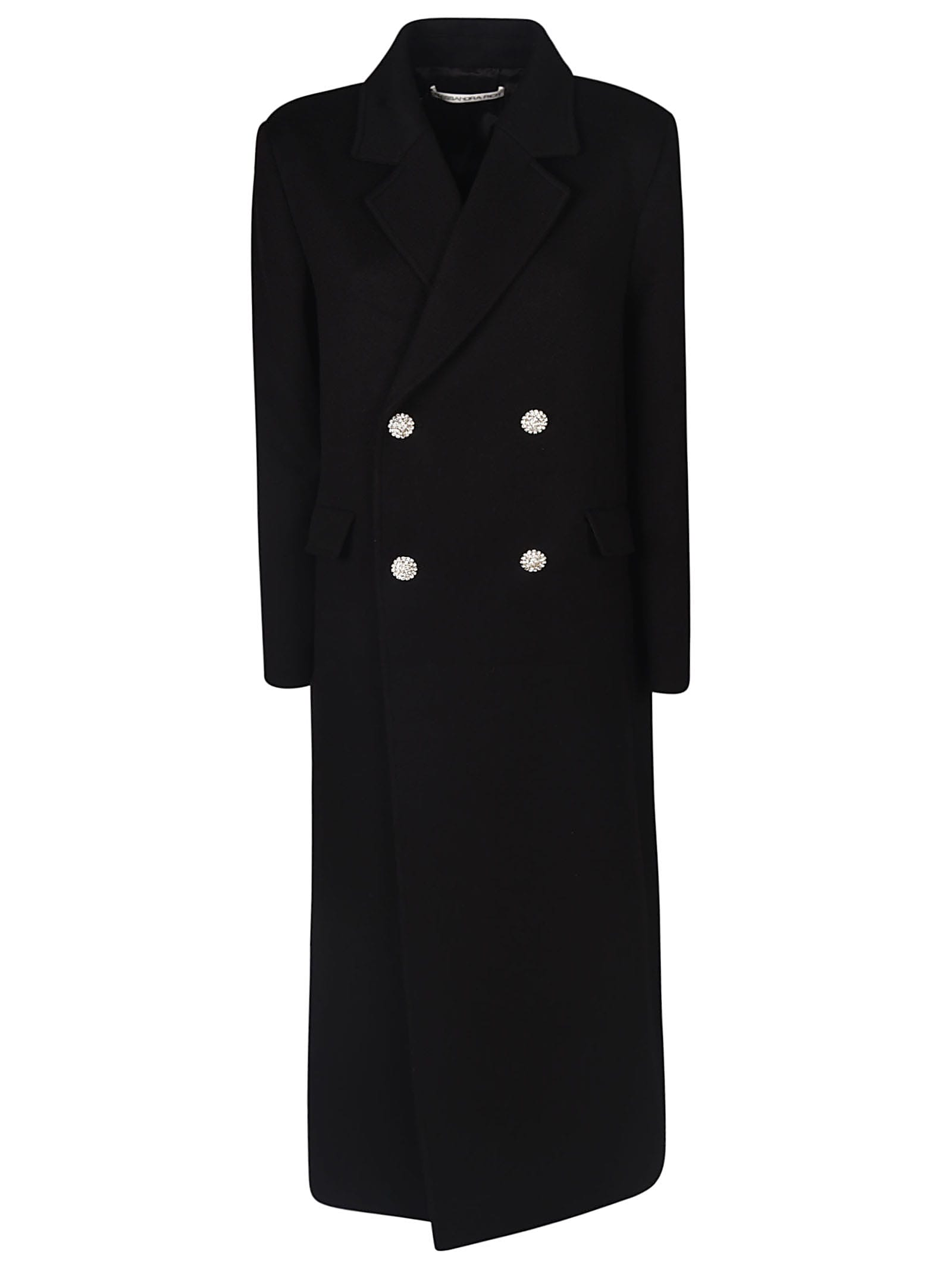Alessandra Rich Double Breasted Two-button Long Coat