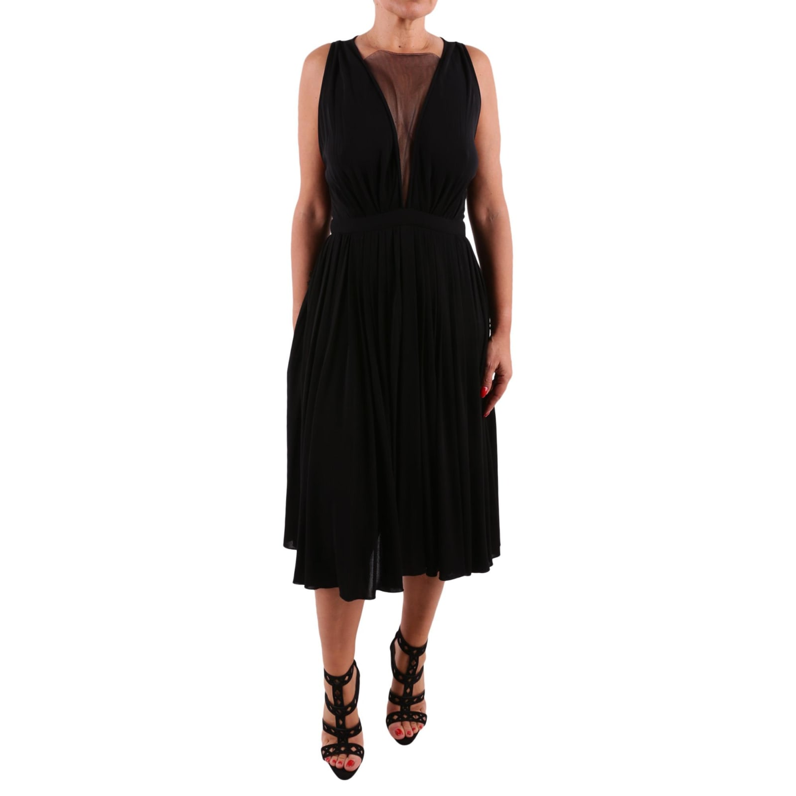 Viscose Pleated Dress