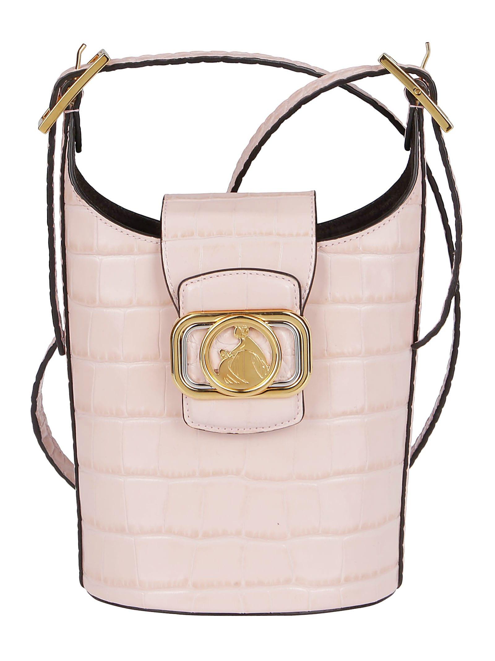 Lanvin PINK LEATHER SWAN BUCKET BAG