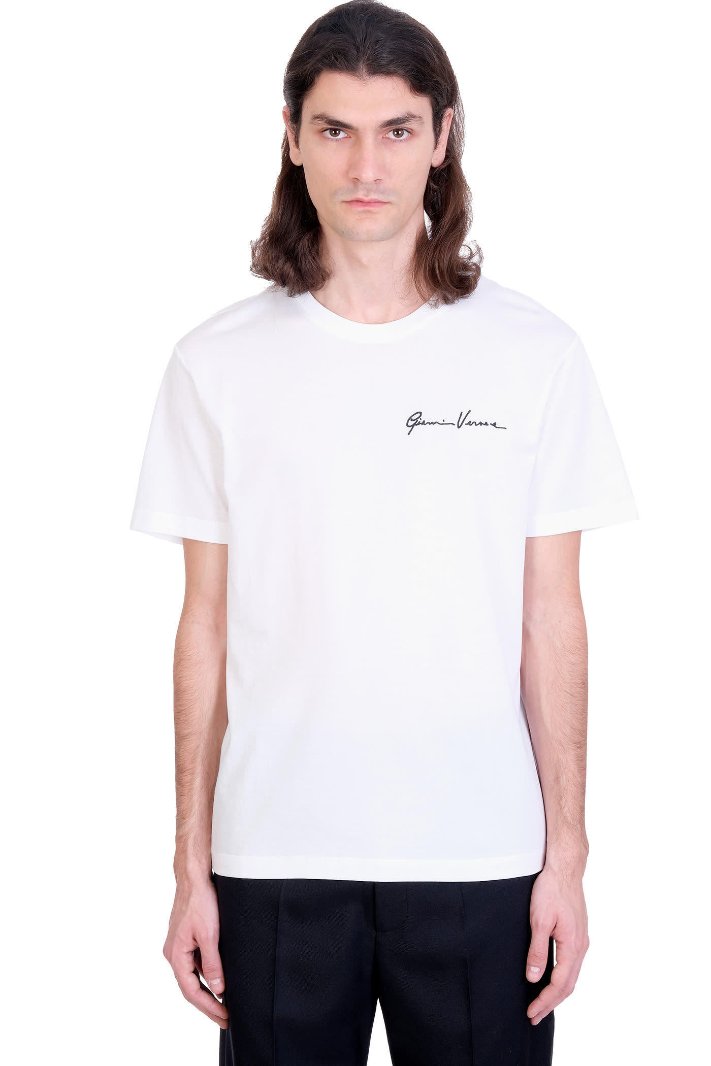 Versace T-SHIRT IN WHITE COTTON