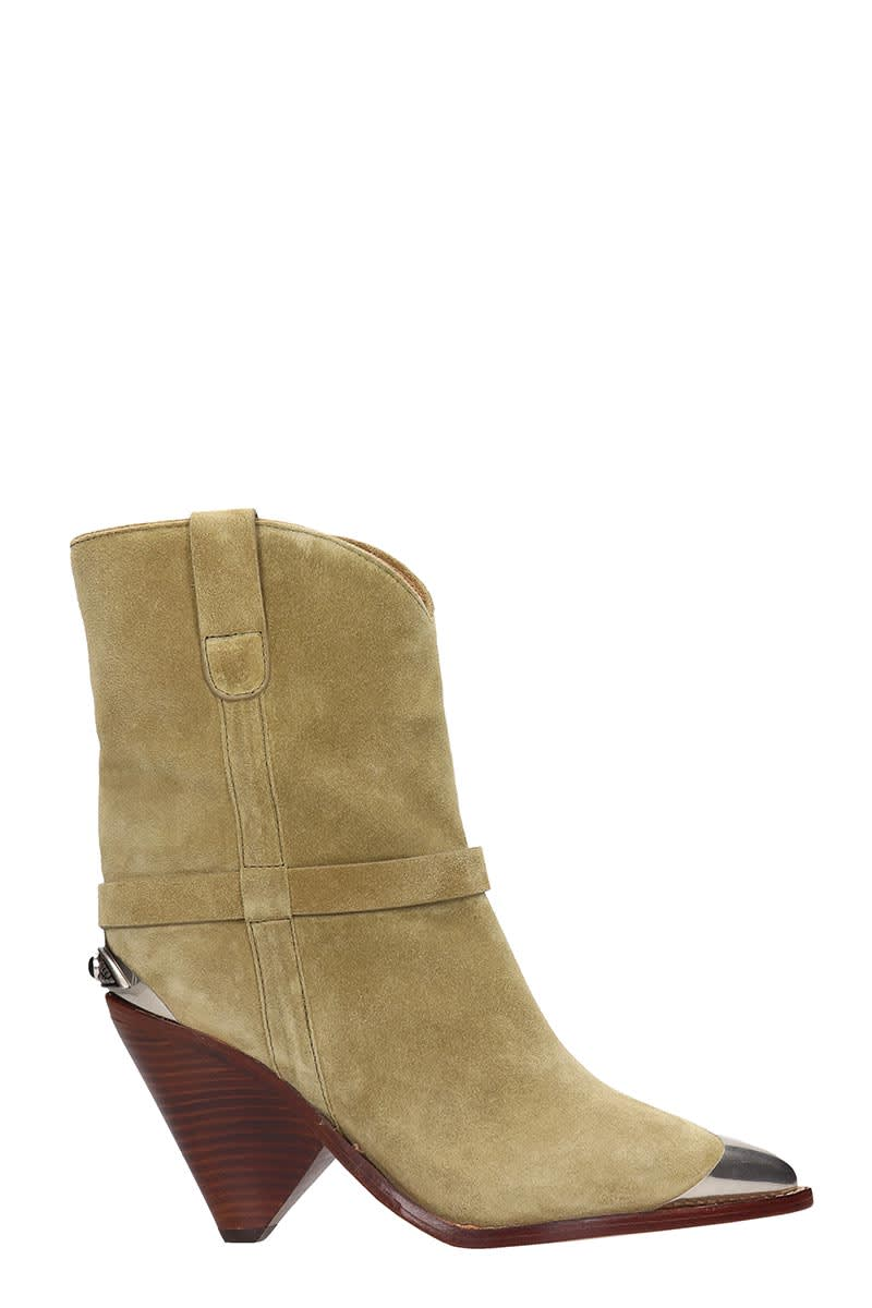 Isabel Marant High heels LAMSY HIGH HEELS ANKLE BOOTS IN BEIGE SUEDE