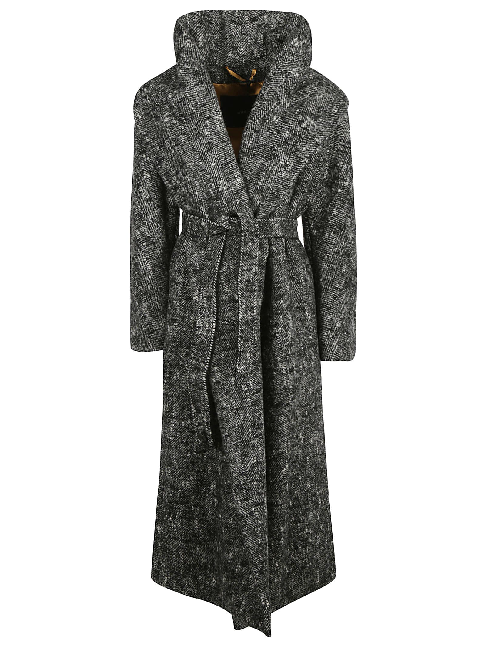 Max Mara High-waist Long Wrapped Coat