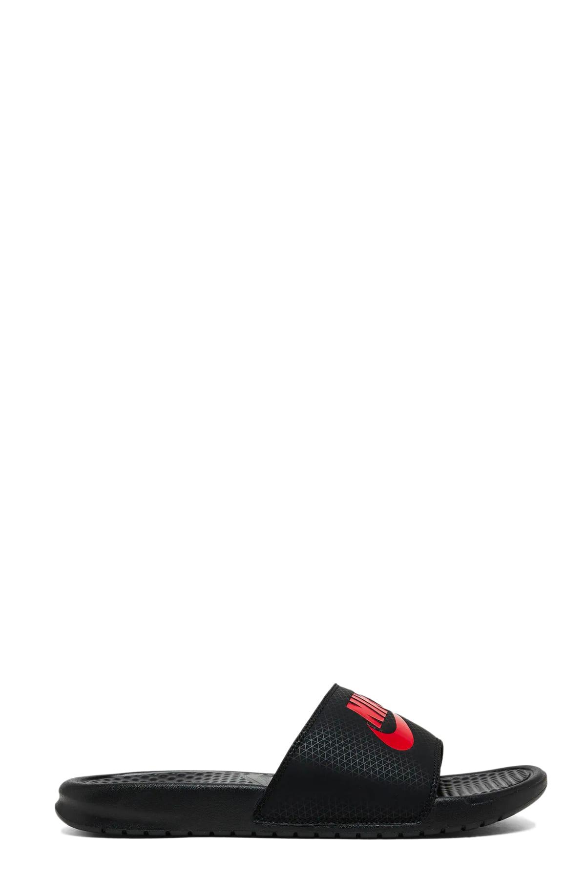 Nike Benassi Jdi In Nero/rosso