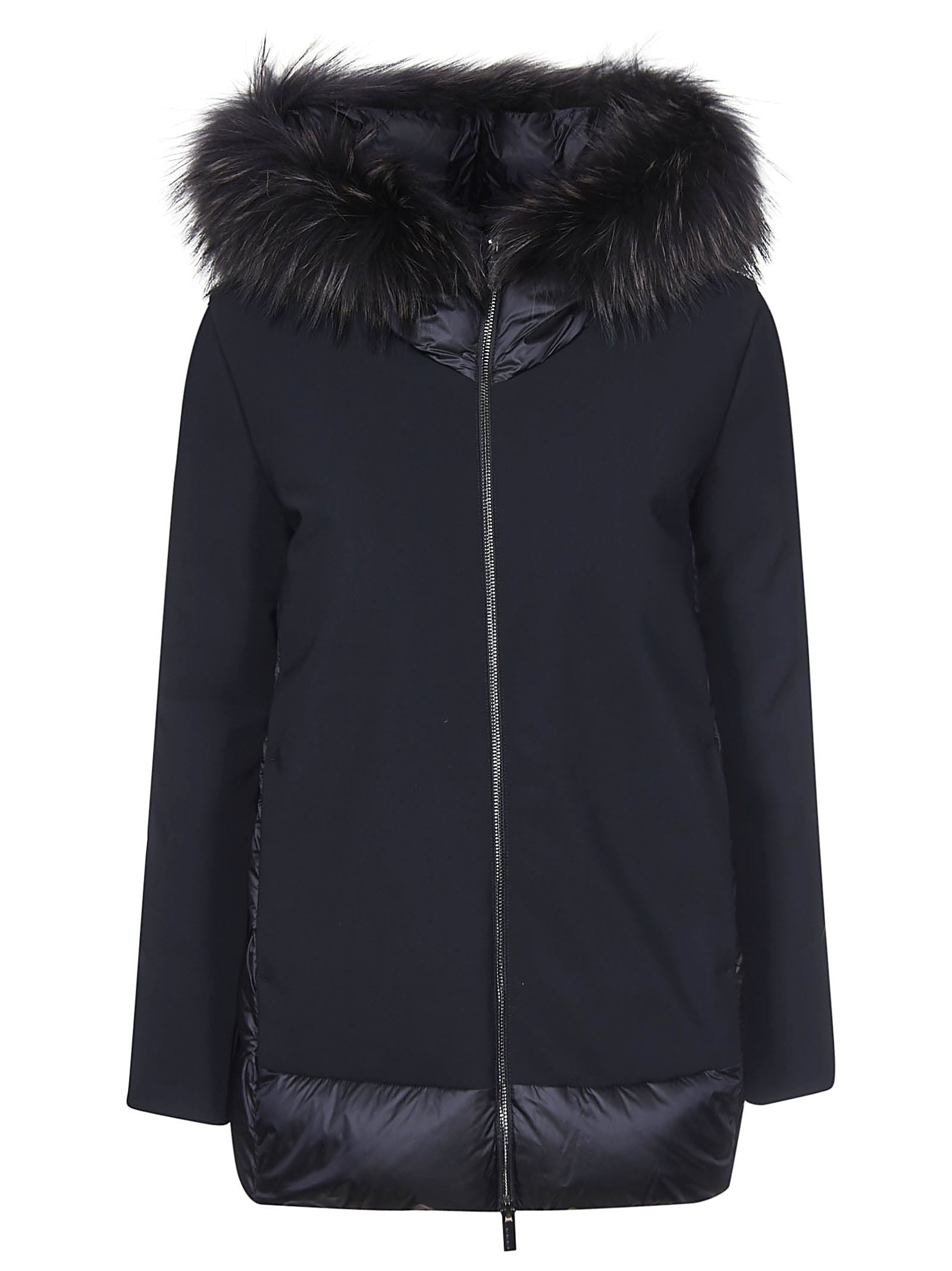 RRD – Roberto Ricci Design Back Padded Detail Hooded Furred Jacket