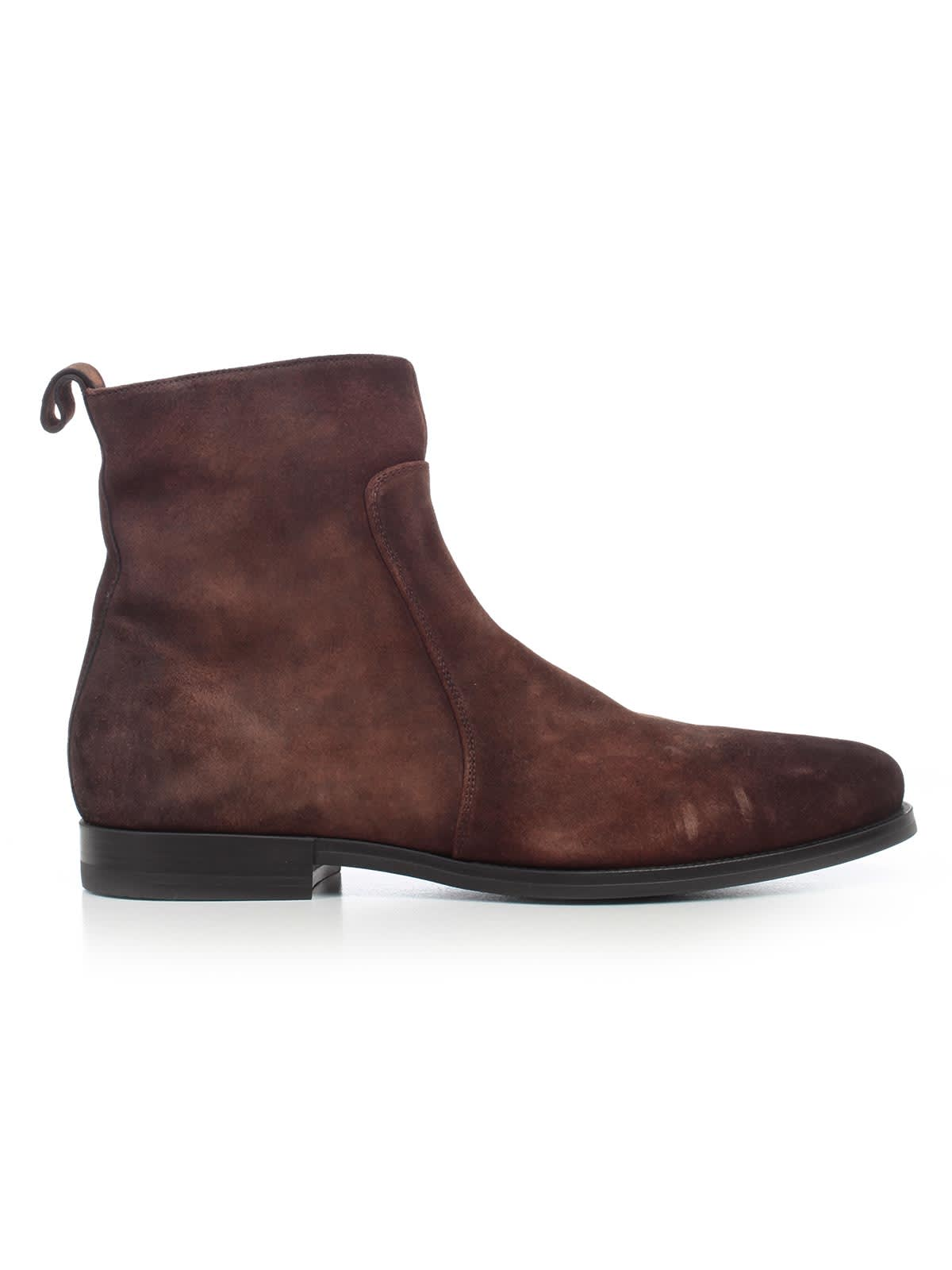 Santoni Boots Rubber Bottom W/zip