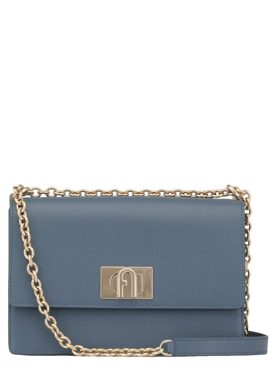 Furla PEBBLED LEATHER SHOULDER BAG