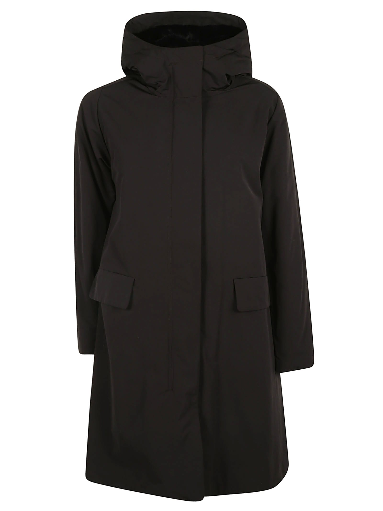 Aspesi Concealed Fastening Oversized Hooded Parka