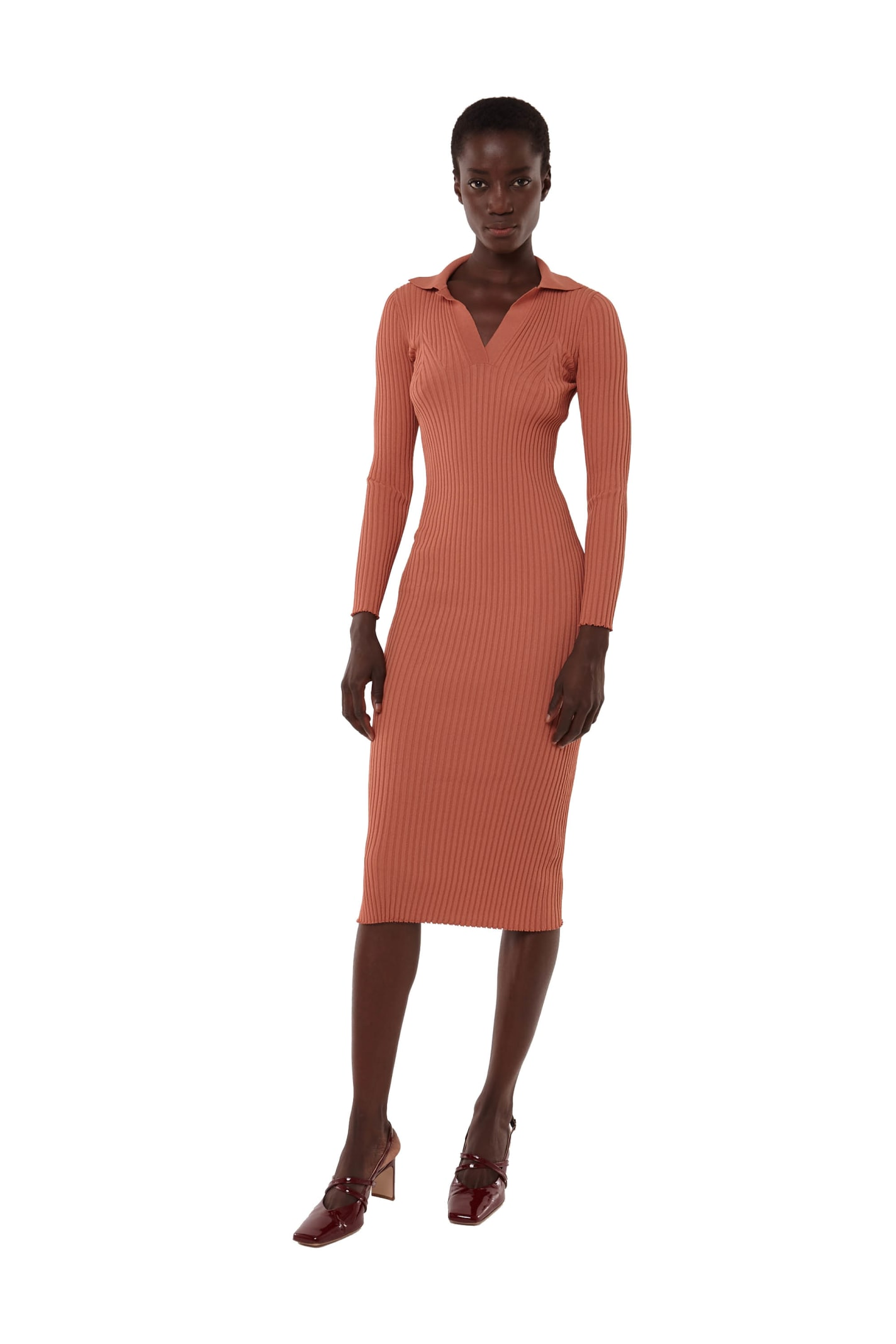 Buy Long Sleeve Polo Dress online, shop DROMe with free shipping