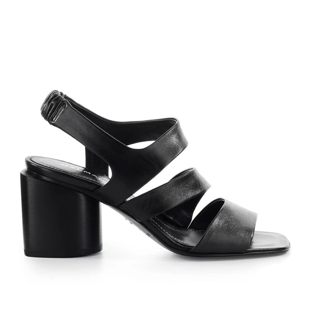 Doris Black Heeled Sandal