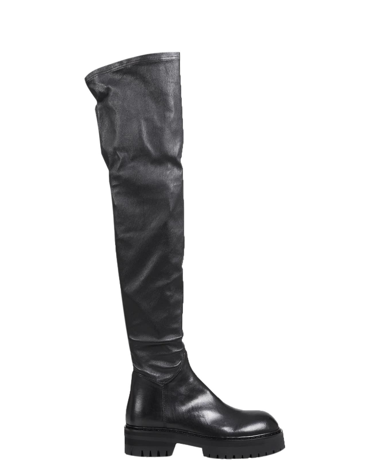 Ann Demeulemeester Black High Boots